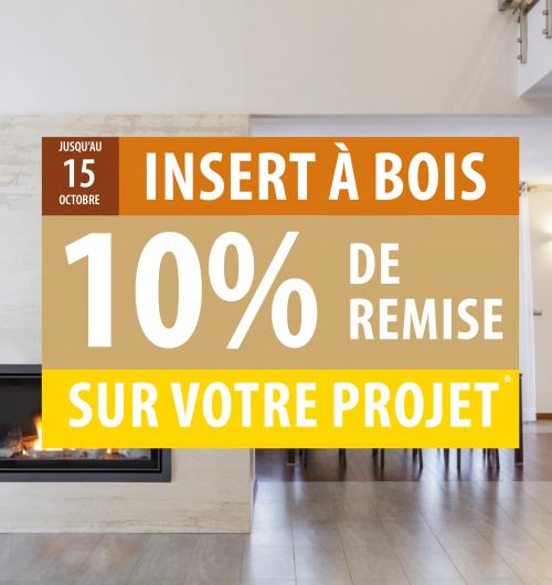 10% de remise sur projet insert