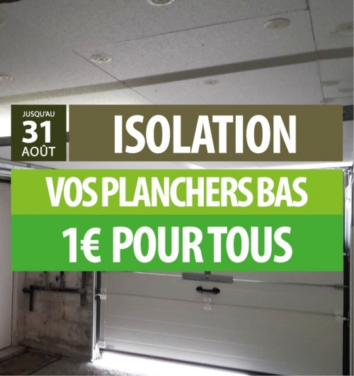 Isolation planchers bas 1€ 1€