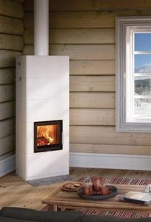 Poêle de masse : entre cheminée et chauffage central