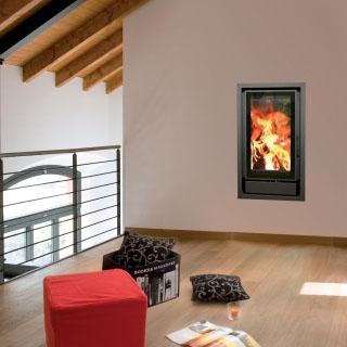 Insert bois Nordic 46cm ventilation intégrée 8kW