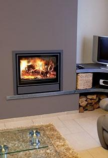 Insert bois Nordic ventilation suspendue 6kW