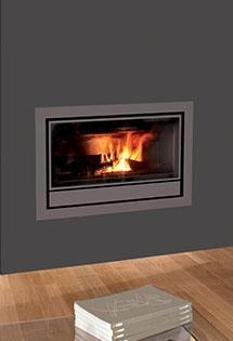 Insert bois Nordic ventilation suspendue 5kW