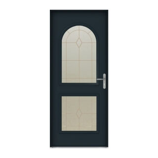 Porte d'entrée mixte alu-bois Windsor