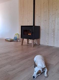 Installation d'un poêle à pellets Modo airtight wood Freepoint