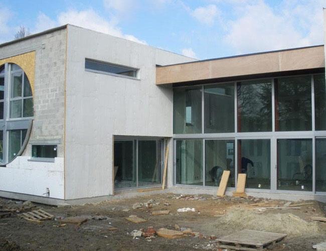 Isolation extérieure d'une maison moderne à Wasquehal