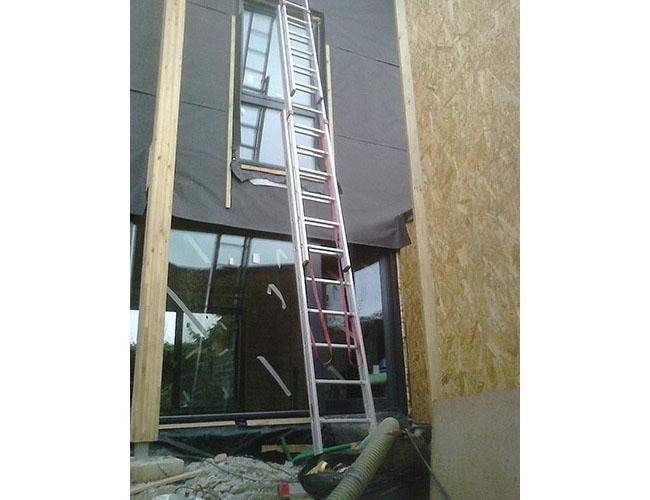 Isolation thermique des murs extérieurs en ouate de cellulose