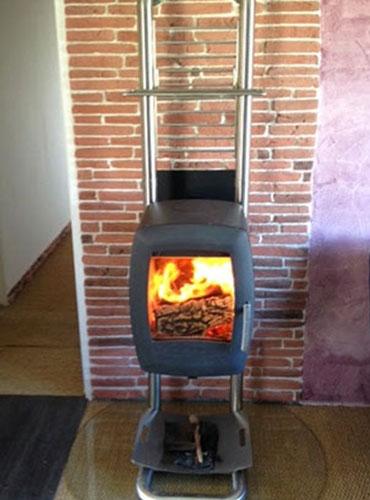 Poêle à bois Nordpeis posé en Haute Normandie