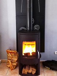 Pose d'un poêle bois Warm 3 à Rouen