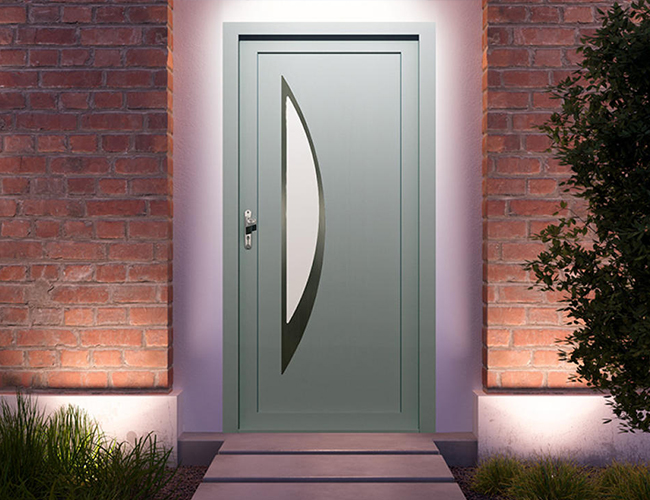 Porte d'entrée PVC performances et esthétisme