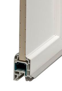 Porte d'entrée PVC haute performance thermique