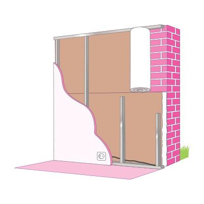 Isolation mur par l'intérieur en laine de verre